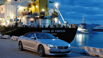 series, bmw, 6, in, harbour
