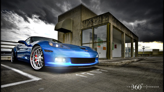 corvette, z06, mesh eight, blue devil