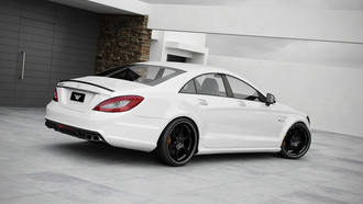 cls63, mercedes, amg, сзади, мерседес, tuning