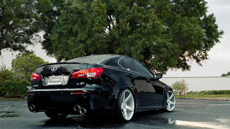 black, lexus ls is on vossen, vossen wheels, auto