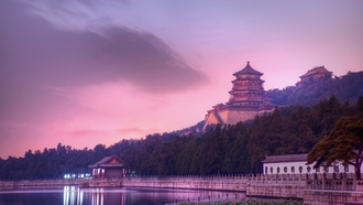 китай, beijing, evening at the summer palace, china