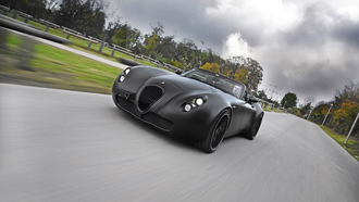 машины, дорога, wiesmann, bat, car, black
