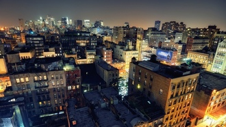 noho on down, nyc, нью-йорк, roof, usa, night, огни, ночь, lower manhattan, new york city