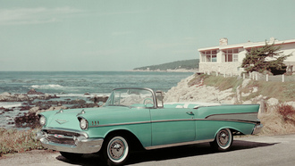 машина, convertible 1957, bel air, chevrolet, retro car