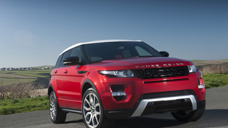 evoque, range rover, red