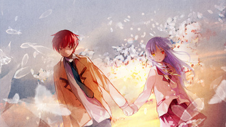 girl, angel, boy, angel beats