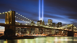 бруклинский мост, world trade center, brooklyn bridge, new york
