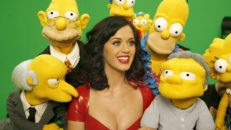 photoshoot, the simpsons, katy perry
