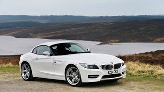 2012 bmw z4 sdrive28i, небо, природа, sky, трава, озеро, вода, машина, nature, 1920x1219, grass, water, lake, car