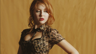 шатенка, renee olstead, рыжая