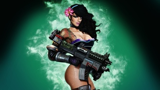 big, girl, guns