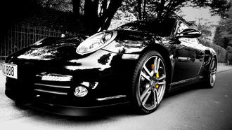 cars, wallpapers, porshe turbo, auto, city, улица, авто, cars wall
