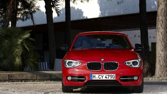 красный, bmw, 1 series, red, бмв