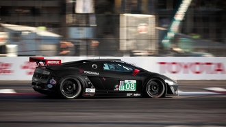 tommy milner, lamborghini gallardo, alms qualifying long beach
