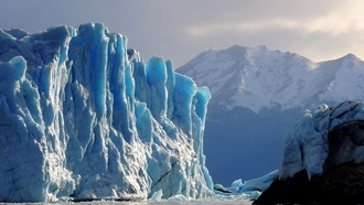 ice, glacier, water, iceberg
