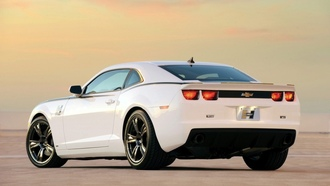 белый, camaro, задняя часть, chevrolet, white, hurst, series 5