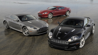 aston martin, dbs, mixed, db9, мокрый асфальт, v8 vantage