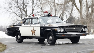 1963 год, chrysler, police, cruiser, newport