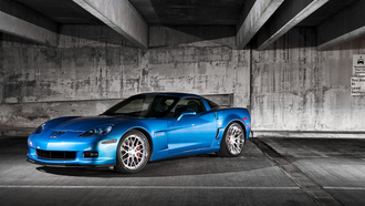 corvette, корвет, 360 three sixty forged, шевроле, голубой, z06, blue, chevrolet