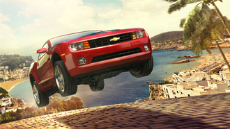 camaro, games, машина, test drive unlimited, пляж, игры, chevrolet, город, cars