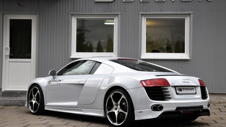 car, машина, audi r8 carbon limited edition, prior design, tuning, 2000x1277