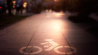 свет, light, велосипедист, town, боке, город, знак, bokeh, city, 1920x1200, sign, cyclist