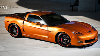 360 three sixty forged, корвет, chevrolet, оранжевый, orange, corvette, z06, шевроле