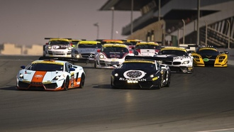 mercedes sls 500, race start, bmw z4, dubai 24 hours, lamborgini gallardo, porsche 911