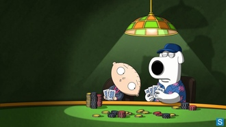 stewie, poker, look, brian, dog, family guy