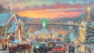 mcadenville, thomas kinkade, christmastown, the lights of christmastown