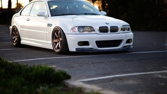 bmw, m3, white, parking, диски, volk, волк, бмв, e46, белый, wheels