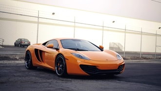 beautiful, car, mp4-12c, supercar, orange, автомобиль, wallpapers, обоя, mclaren