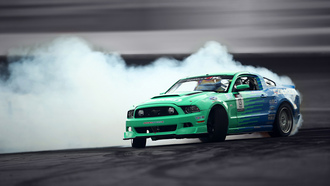 sportcar, tuning, falken, gt, drift, smoke, mustang, competition, ford