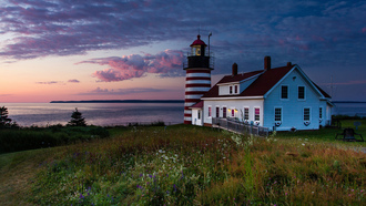 дом, маяк, сша, united states, maine, lubec, west quoddy lighthouse, мэн, штат