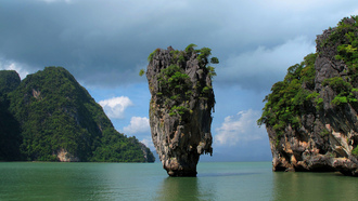 thailand, phang nga bay, phuket, залив пхангнга, khao phing kan, james bond island