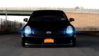 vossen, car, автомобиль, infiniti, tuning, wallpapers, черная, black, обоя, g35