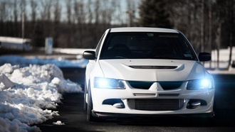 митсубиси, ix, mitsubishi, лансер, 9, white, lancer, evolution, эволюшн