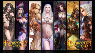 forsaken world, девушки, mmorpg