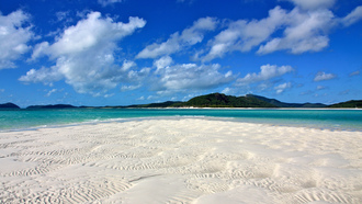 australia, песок, океан, whitehaven beach, beautiful place, пляж