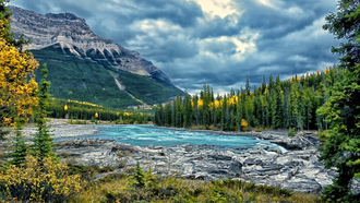 река, jasper national park, athabasca river, атабаска, canada, канада, alberta