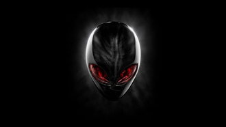 alien, голова, красный, red, head, dell, alienware