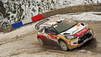 грязь, гонка, citroen, rally, wrc, sebastien loeb, ds3, едет