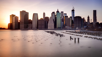 new york, небоскребы, город, dumbo, ny, нью-йорк, brooklyn bridge, us