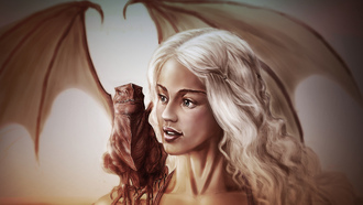 игра престолов, daenerys targaryen, game of thrones, арт, emilia clarke