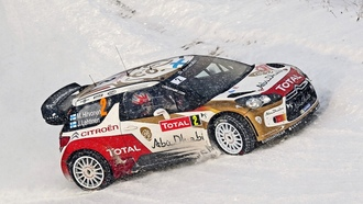 ситроен, зима, m. hirvonen, ds3, снег, wrc, total, citroen, rally, j. lehtinen, 2