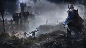 Битва, Орки, Middle-earth: Shadow of Mordor, Talion, Меч, Фэнтези