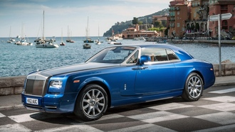 coupe, фантом, синий, купе, rolls-royce, phantom, роллс-ройс