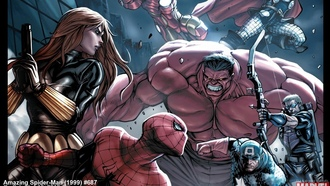 captain america, avengers, red hulk, iron man, the amazing spider-man, thor