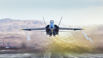 blue angels, mcdonnel douglas fa-18a hornet, california
