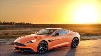 matte, tuning, orange, aston martin, vanquish